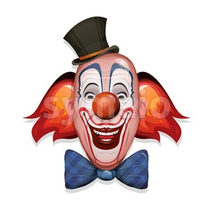 Circus Clown Face Stock Vector