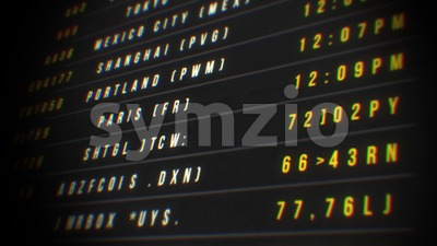 Airport Departure Board Loop Stock Video