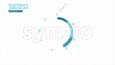 Success Business Keywords Diagram Intro Stock Video