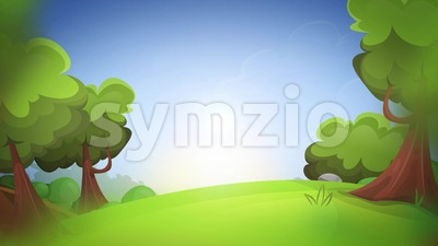 Spring Cartoon Nature Background Loop Stock Video