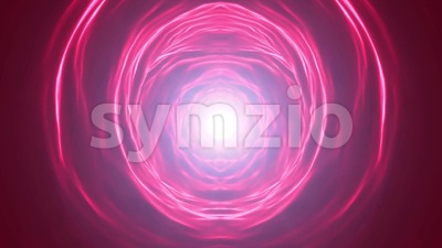 Abstract Scifi Energy Vortex Tunnel Loop Stock Video