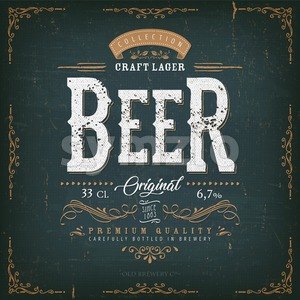 Vintage Beer Label For Bottle Stock Vector