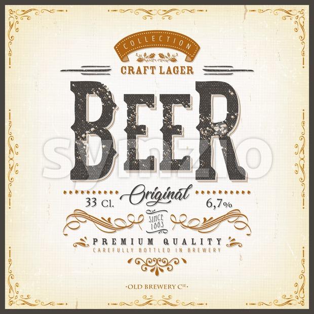 Vintage Beer Label For Bottle Stock Vector