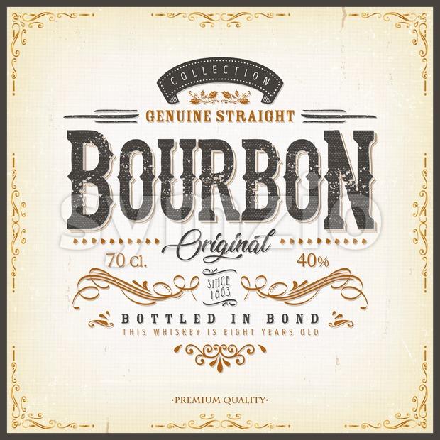 Vintage Whisky Label For Bottle Stock Vector