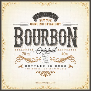 Vintage Whisky Label For Bottle Stock Vector