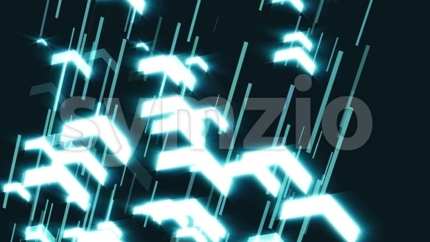 4k animation of slow motion arrows rising up for business hi tech backgrounds