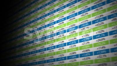 Stock Market And Exchange Background Loop Stock Video