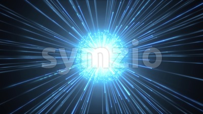 Fireworks Slow Motion Background With Shining Starburst Stock Video
