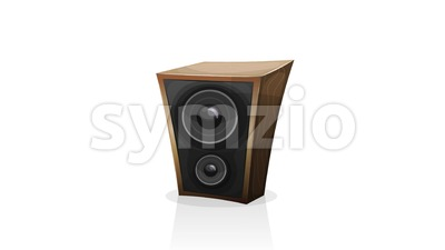 Cartoon Amp Audio Speaker Beat Pulsation Loop Stock Video