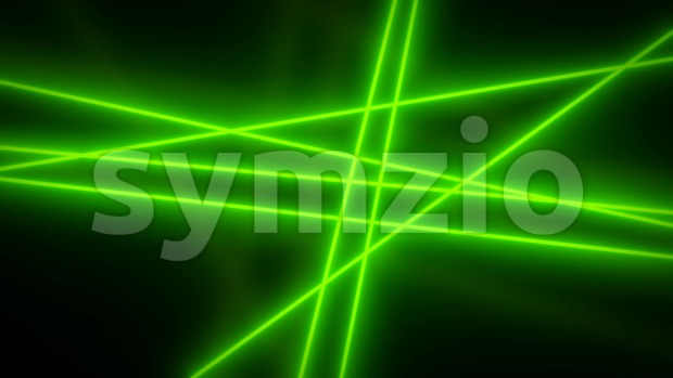 4k animation of abstract elegant green light rays shining and glowing, moving and rotating in loop mode