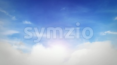 Blue Sky Background With Clouds Loopable Stock Video