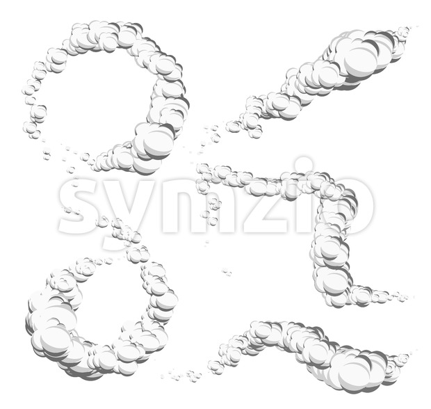 Cartoon Clouds, Smoke And Wind Spiral Stock Vector