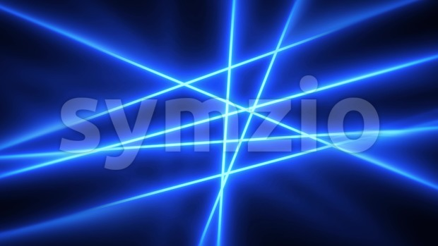 4k animation of an abstract elegant laser light rays shining and glowing, moving and rotating with slow motion