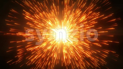 Abstract Hyperspace Stars With Lens Flare Loop Stock Video