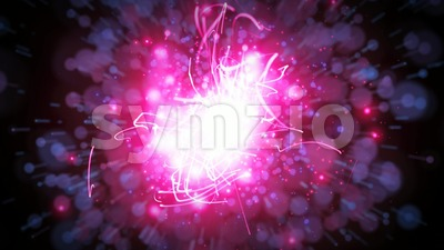 Abstract Fairy Particles Background Seamless Looping Stock Video