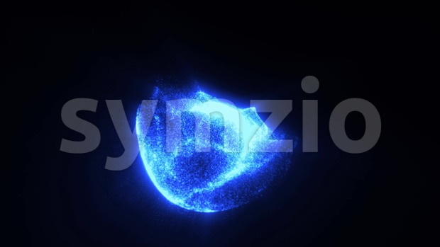 4k animation of an abstract background with star core and elegant fractal fluid particles seamless looping