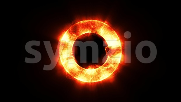 4k animation of an abstract circle f lights background glowing and seamless looping