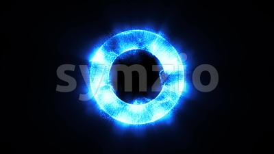 Abstract Torus Circle With Particles Shining Background Loop Stock Video