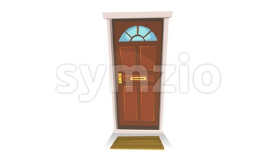 Door Opening With Background Stock Video