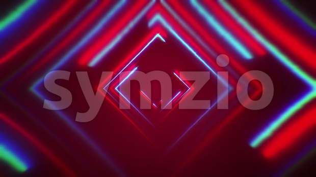 4a animation of an abstract digital background with neon square seamless looping