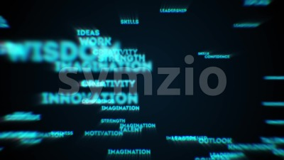 Abstract Business Success Text Reveal Stock Video