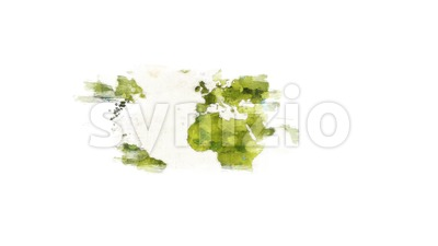 Abstract Watercolor Wold Map background Reveal Stock Video