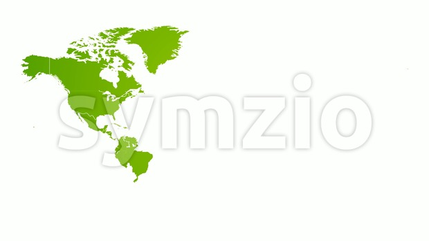 4k animated global world map intro background with countries appearing and fading one by one