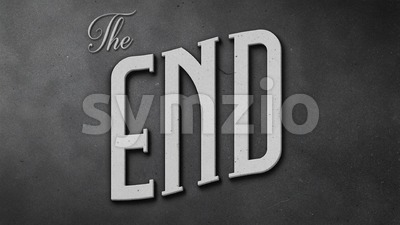 Vintage The End Movie Screen Stock Video