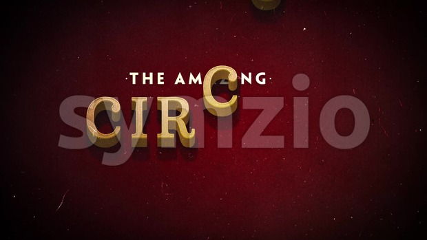 4k animation of an elegant vintage and retro circus background with beautiful typography and intro effect