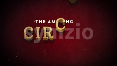 Vintage Retro Circus Background Stock Video
