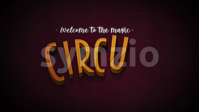 Vintage Retro Circus Background Stock Video