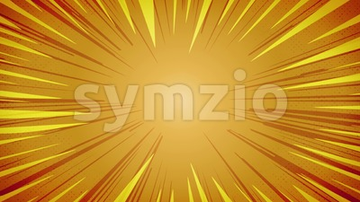 Comic Book Action Background With Light rays Stock Video