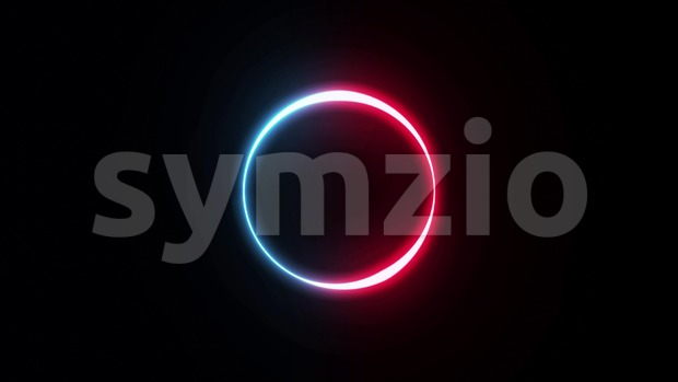 4k animation of an abstract background with neon logo stroke shapes looping