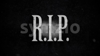 Rest In Peace Background Clip Stock Video