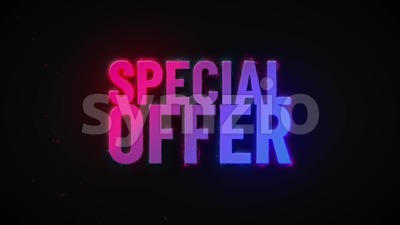 4k Sale Special Offer Burning Text Reveal Stock Video