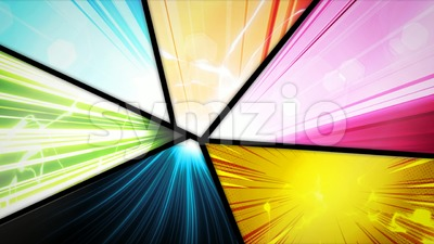 Comic Book Action Layout Background With Power Fx Stock Video