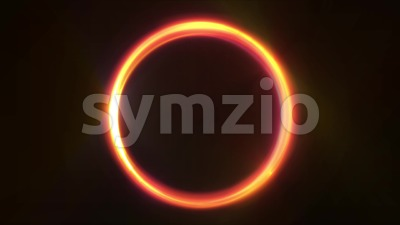 Abstract Fire Light Glowing Circles Animation Stock Video