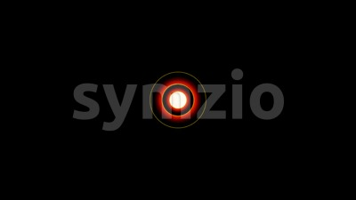 Cartoon Intro With Concentric Red Circular Curtains Stock Video