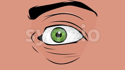 Comic Books Man Eyes Looking With Surprise Stock Video