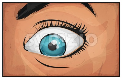 Comic Books Woman Eyes Stock Vector