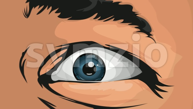 4k awesome animation of cartoon comic eyes watching and staring at you with terror and fright