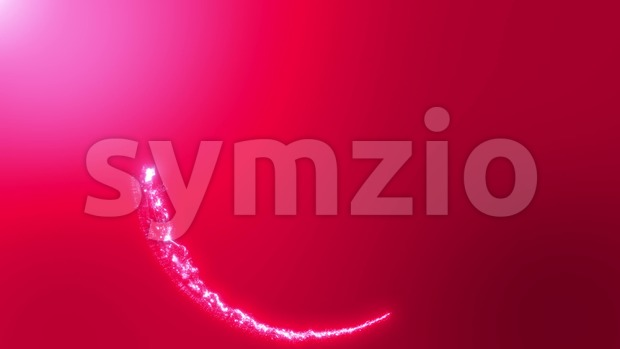 4k animation of an abstract dynamic magic light energy circle with particles and turbulence lines, seamless looping