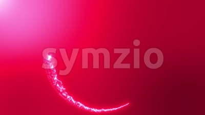 Abstract Light Leak Circle Background Loop Stock Video