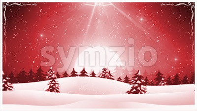 Christmas Landscape Background Loop Stock Video