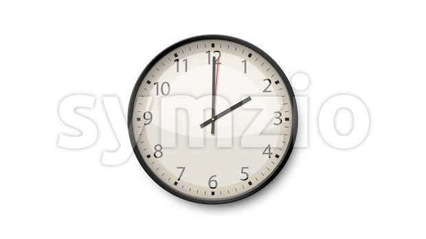4k animation of a black and white clock time lapse with soft clean and simple design