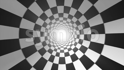 Abstract Checkerboard Vortex Background Seamless Looping Stock Video