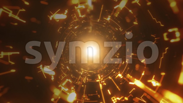 4k animation of an abstract night club background with light tunnel flowing and optical flares
