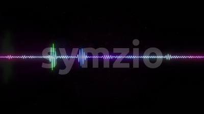 Digital Audio Spectrum Graphic Equalizer Background Loop Stock Video