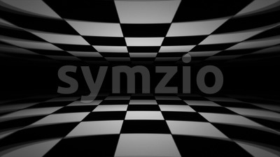 Abstract Checkerboard Landscape Seamless Looping Stock Video