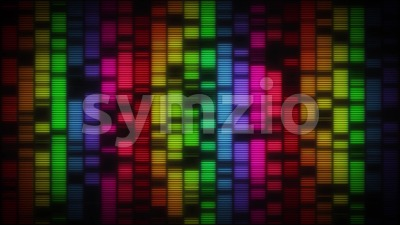 Graphic Equalizer With Glow Bars Background Vj Loop Stock Video